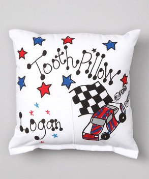 Bunnies and Bows Personalized Tooth Fairy Pillow - Race Car - 6.5