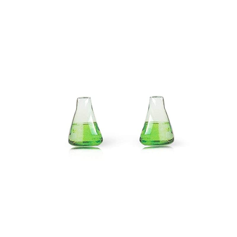 Beaker and Flask Earrings Mismatched Science Earrings