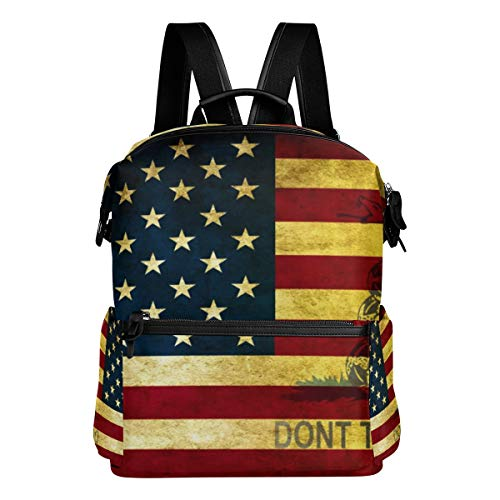 - Don't Tread Me Gadsden Flag Unisex Rucksack Canvas Satchel Casual Daypack,School College Student Backpack