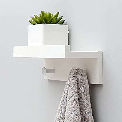 Amazon.com: LXLA- Bamboo Wall-Mounted Coat Rack, White Wall ...