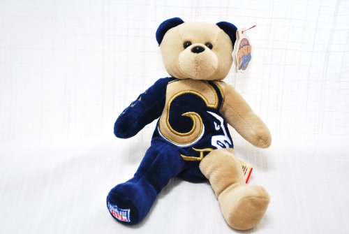 - ST LOUIS RAMS OFFICIAL NFL LARGE LOGO 8IN SPECIAL FABRIC FOOTBALL PLUSH TEDDY BEAR