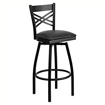 Excellent Amazon Com Pemberly Row 32 X Back Swivel Metal Bar Stool Machost Co Dining Chair Design Ideas Machostcouk