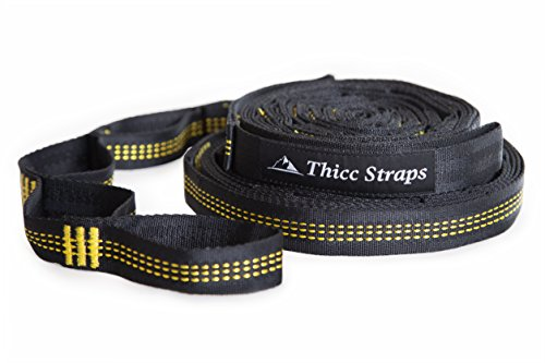Montem Thicc Hammock Straps/40 Combined Loops - 24 Feet Long/Holds 1,200 Pounds From Our SUPER Triple Stitching/Get Our Camping Hammock Tree Straps by Montem
