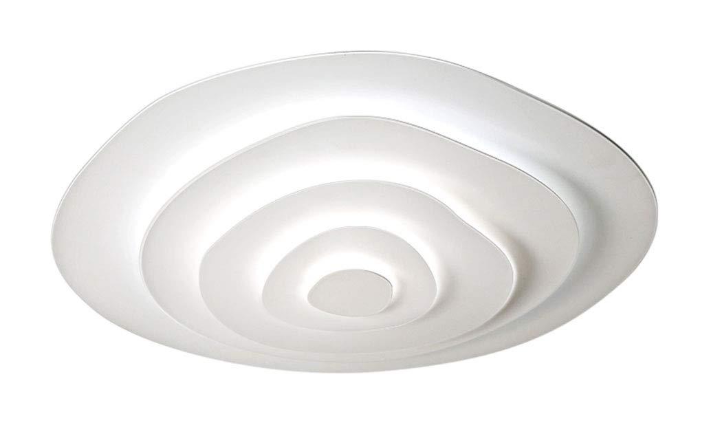 LED Deckenleuchte Dimmbar Fernbedienung, Farbewechsel Stufenlos Dimmbar 2700k-6500k 45W Wohnzimmerlampe Deckenlampe Jahresring-Design Flur Badlampe Deckenbeleuchtung Wohnzimmer Lampe
