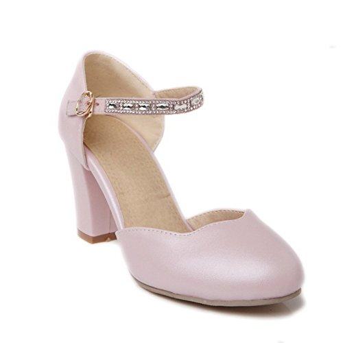Pink Shoes Pumps Solid Womens BalaMasa Soft Glass Material Diamond qwZ1pH