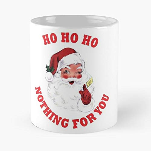 - Funny Santa Cheeky Retro Wink - 11oz Novetly Ceramic Cups, Unique Birthday And Holiday Gifts For Mom Mother Wife Women.