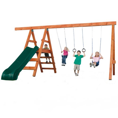 Pioneer Swing Set - Pioneer Deluxe DIY Play Set Hardware Kit with Slide (wood NOT included)
