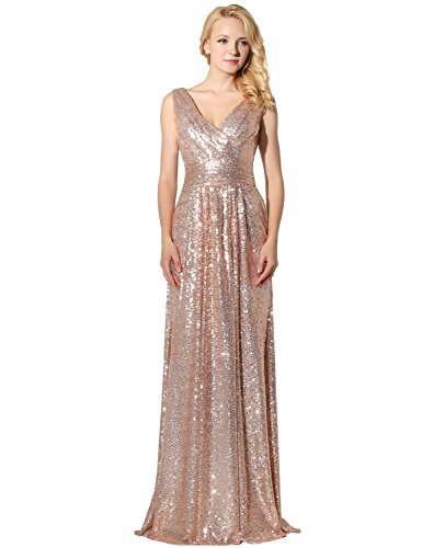 Sarahbridal Long Evening Dresses for Women Uk Sequins Prom Dress ...