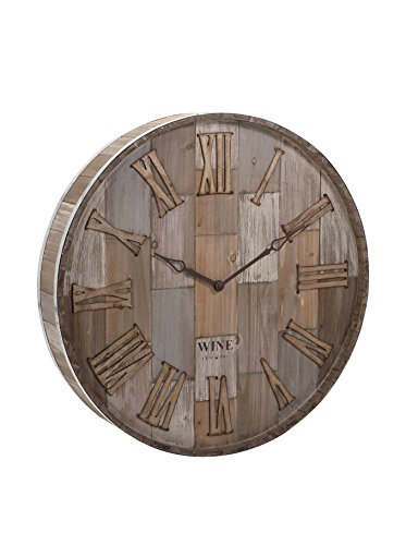 imax-83457-wine-barrel-wood-wall-clock-natural