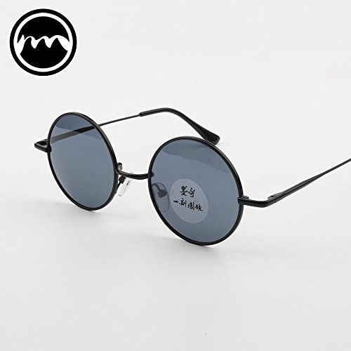 Gafas sol Black Mirror mirror de sol Prince VVIIYJ Black Box Glasses redondas black Black Gafas polarizadas Female Male Mirror box de Face Myopia zP4Zpw4