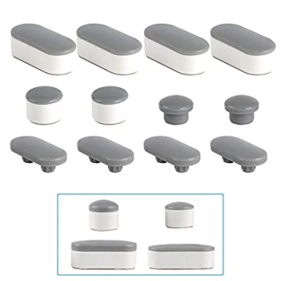 6 Pieces Toilet Seat Bumpers, Universal Toilet Lid Bumper Rubber Bumpers Each One with 2 Thickness TPE Pads(2 Height choose from) Self Adhesive Toilet Bumpers Used for Home, Hotel, Hospital by Hibbent
