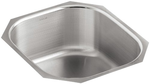 - KOHLER K-3336-NA Undertone Single-Basin Rounded Undercounter Kitchen Sink, Stainless Steel