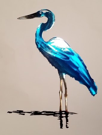 amazon superior blue heron metal wall art inches tall