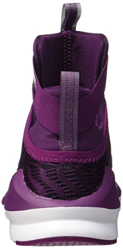 Puma Women's Fierce Strap Swirl Fitness Shoes, Black/White Purple (Dark Purple-white 03)