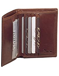 High Polished Cowhide Aniline Leather Two Fold Wallet II Color: Bordo