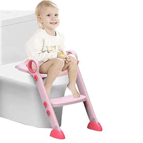 6 opinioni per Sedile regolabile, Scaletta per bambini Sedile per WC(rosa)