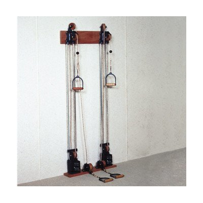 CanDo 10-0661 Chest Weight Pulley System, Two Towers, Dual Handle, Lower/Mid, 10 x 2.2 lb by Cando