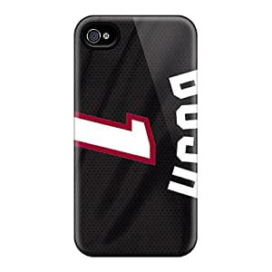 Snap-on Case Designed For Iphone 4/4s- Miami Heat
