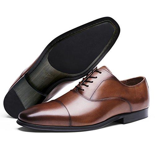 Zapatos de Desai Hombre Cordones para Marrón Oxford pz0xdPq