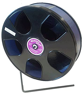 Rodent - Semi-Enclosed Exercise Wodent Wheel 'Sr.' 11 inch size Blue by Transoniq from PetWiser