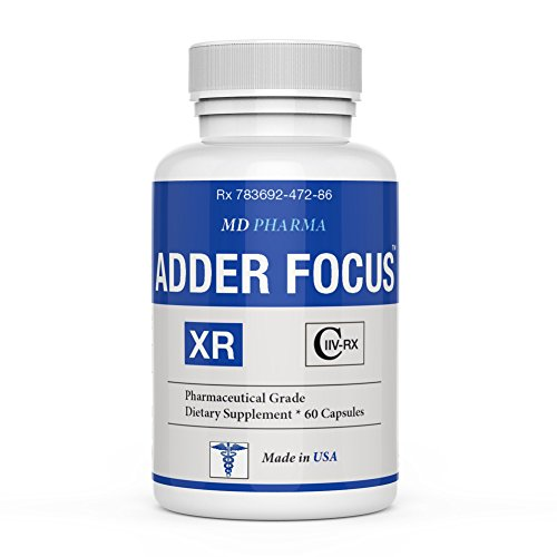 Adder Focus Xr    Pharmaceutical Grade Otc   Over The Counter   Brain Booster Pills    Enhance Focus Factor   Increase Memory  Mental Alertness  Clarity   Energy   Clinically Proven Ingredients