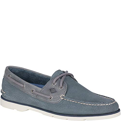Mens Nubuck Shoes - SPERRY Men's, Leeward Boat Shoe Grey Nubuck 10 M