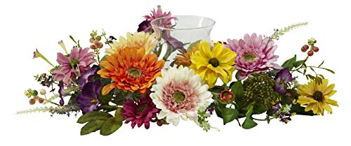 - Artificial Flowers -African Sunflower Candelabrum Arrangement Silk Flowers
