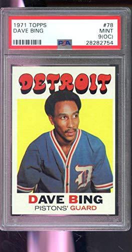 (1971-72 Topps #78 Dave Bing Detroit NBA MINT PSA 9 (OC) Graded Basketball Card )