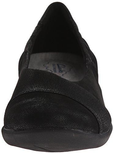 Clarks Cloudsteppers Sillian Intro plana Black Synthetic Nubuck