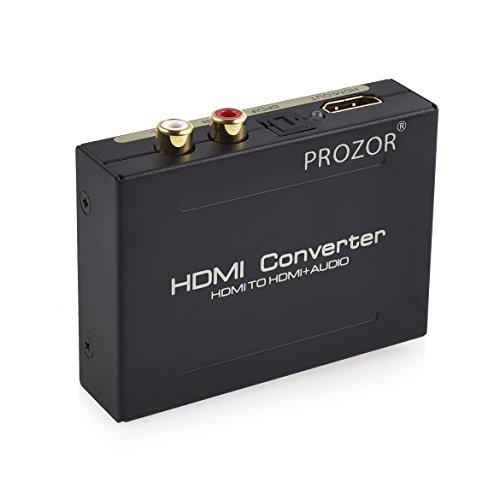 Digital Audio Konverter, PROSTER Digitaler HDMI zu HDMI SPDIF/Toslink RCA L/R Audio Konverter Adapter Ausgang mit USB Kabel für Apple TV Blu-ray Player