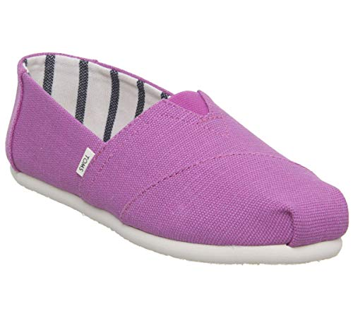 (TOMS Women's Alpargata Espadrille, Size: 6 B(M) US, Color: Red Plum Heritage Canvas)