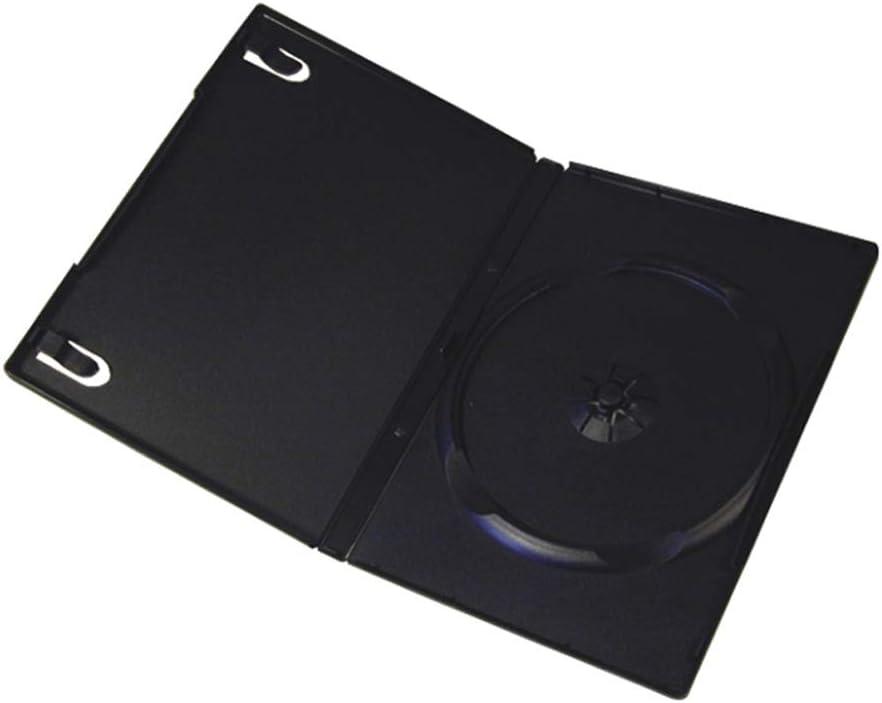 Progo 50 Pack Standard Black Single DVD Cases 14MM