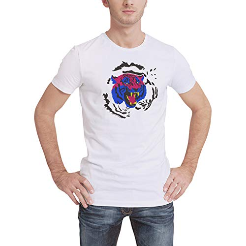 T Shirts for Men V Neck,MILIMIEYIK Blousess Men's