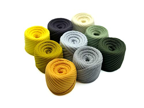 T-Shirt Yarn Fettuccini Zpagetti Set - 9 Balls Total, used for sale  Delivered anywhere in USA