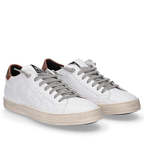 P448 - Zapatillas de Piel para hombre blanco Colore