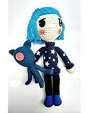 Coraline amigurumi de Coraline y la puerta secreta, muñeca tejida a crochet