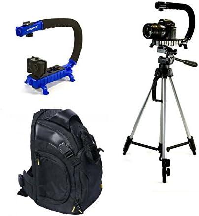 Estabilizador de cámara Bundle w/SCORPION Jr Azul + grande mochila ...