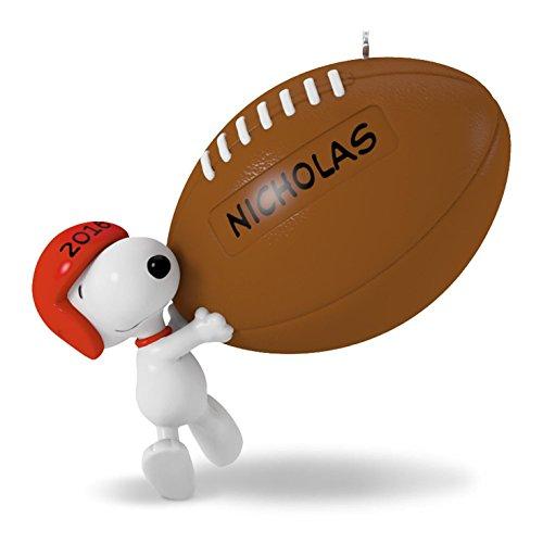 Hallmark 2016 Christmas Ornament Touchdown Snoopy Football Ornament