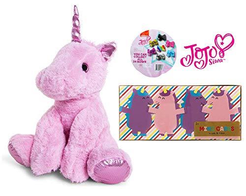 Ropeastar JoJo Siwa Set with 11 Inch Unicorn, JoJo Siwa Mystery Bow Pack, Card Set
