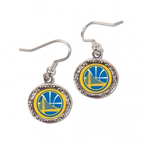 WinCraft NBA 98289014 Golden State Warriors Jewelry Carded Earrings ()