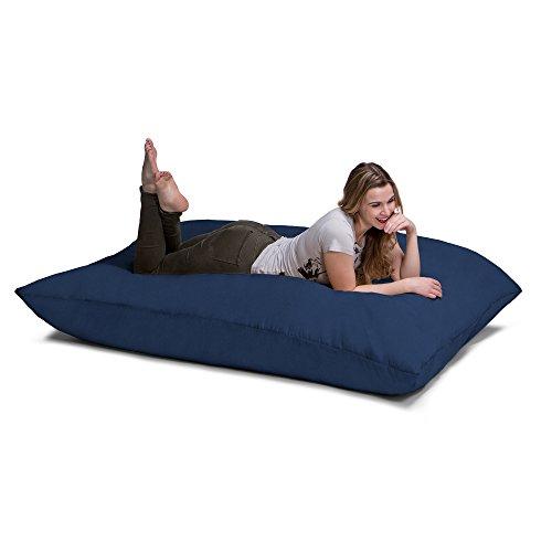 Jaxx Pillow Saxx 5.5-Foot - Huge Bean Bag Floor Pillow and Lounger, Navy - Bean Bags Floor Cushions