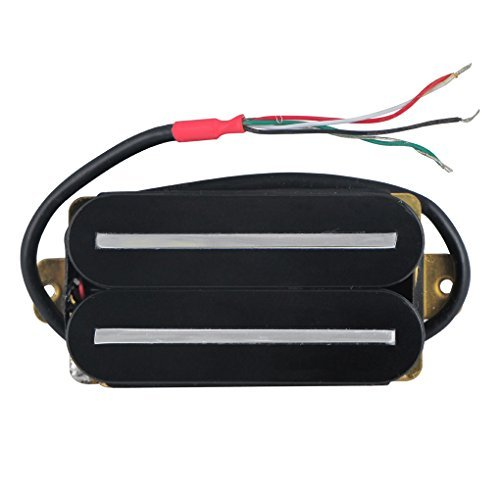 Ceramic Pickup - FLEOR High Output Pickup Dual Hot Rail Humbucker Pickups Ceramic Electric Guitar Pickup Humbucker, Black