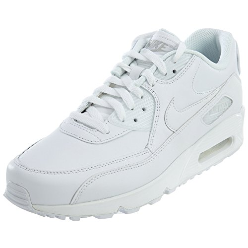Max Leather (Nike Men's Air Max 90 Leather White/White Running Shoe 10.5 Men US)