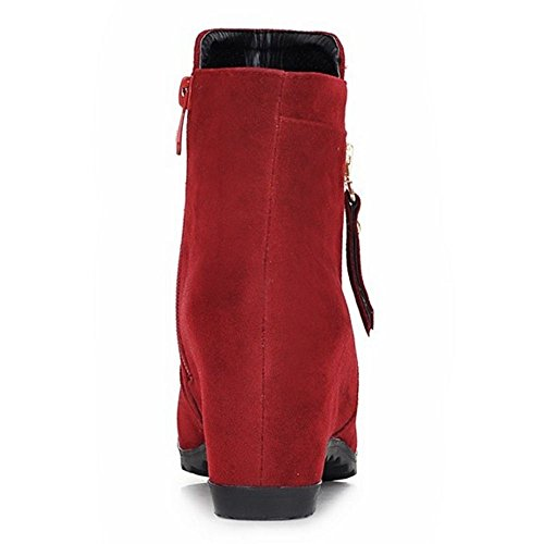 COOLCEPT Damen Stiefel Stiefel Zipper Red