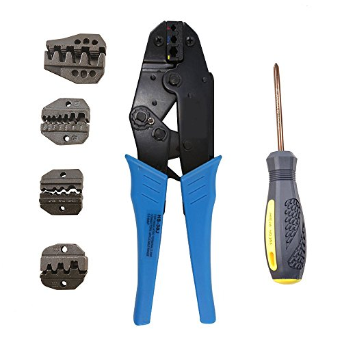 Wovier HS-30J Crimping Tool Kit for Different Kind Terminals with 5 Changeable Die Sets by Wovier