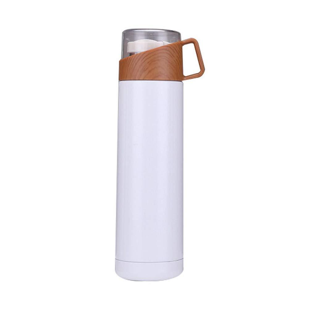 YunYoud Tazza Trasparente di Affari della Testata della Copertura – Bottiglia di Acqua Calda di Affari di Viaggio di Vuoto della Tazza della Bottiglia di Acqua di Legno (Bianco) Prezzi