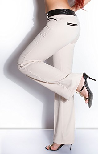 In-Stylefashion - Pantalón - para mujer Beige