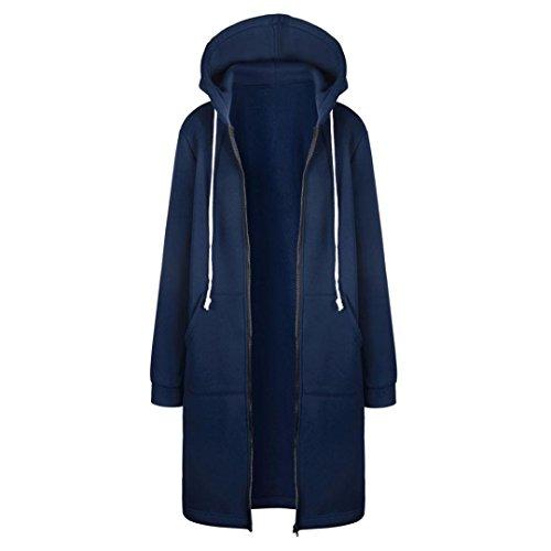 Women's Autumn Winter Fashion Warm Sweatshirt, LLguz Zipper Hoodies Long Sleeves Coat Jacket Pockets Outwear (XXXL, Blue) by LLguz (Image #3)