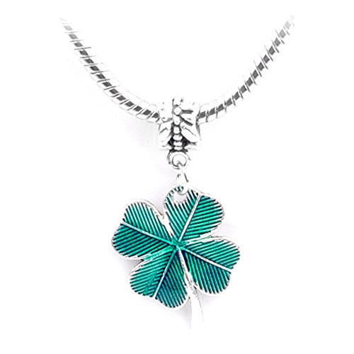 Herria Silver Plated Clover Heart-shaped Charms Dangle Pendant, (Louis Vuitton Pendant)