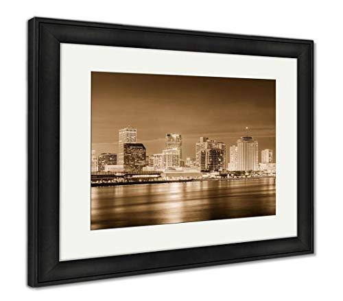 - Ashley Framed Prints New Orleans, Louisiana, USA, Wall Art Home Decoration, Sepia, 34x40 (Frame Size), Black Frame, AG32911958
